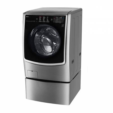 LG 21KG 韩国原装进口蒸汽洗烘大容量滚筒波轮二合一WDRH053D7HW