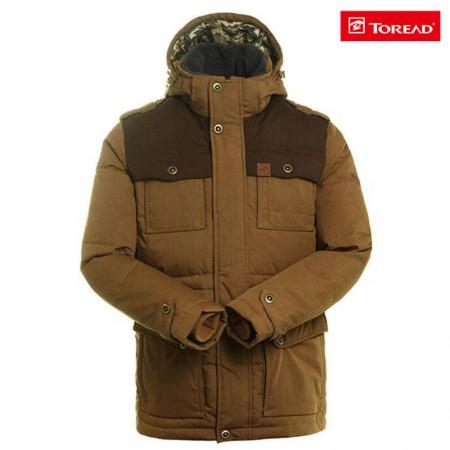 探路者男式 户外保暖羽绒服91568木棕
