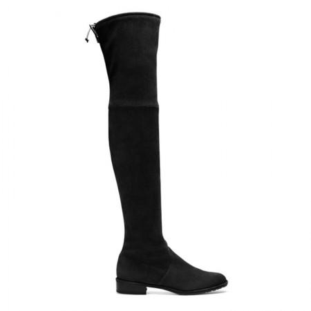 Stuart Weitzman 女士低跟过膝长筒靴·黑色