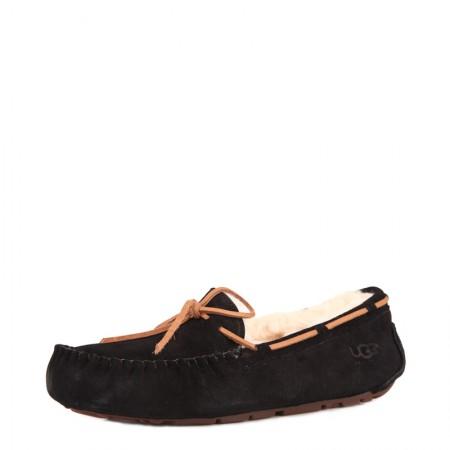 UGG 女款蝴蝶结款豆豆鞋·黑色