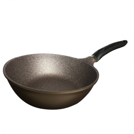 Kitchendele 韩国进口黄金麦饭石花岗岩不粘锅平底炒锅28CM