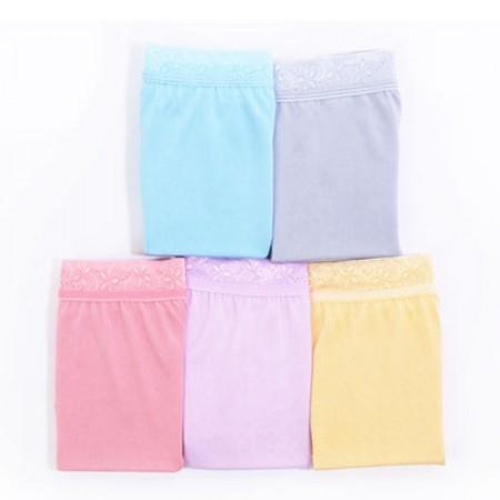 阙兰绢马卡龙素色蚕丝内裤2条·颜色随机  颜色随机
