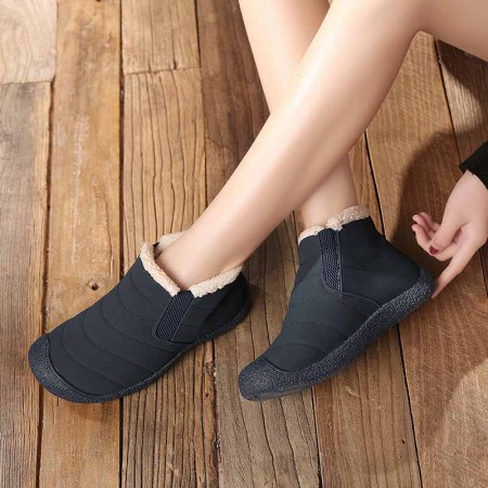万旗飞扬棉鞋B506·黑色(女款)