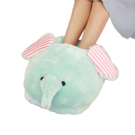 漫漫猪 创意冬季暖脚宝 可爱毛绒卡通动物·小象