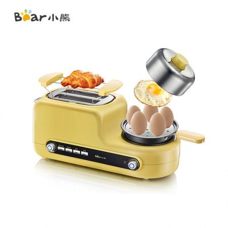 小熊(bear)多士炉烤面包机多功能家用蒸蛋煎蛋早餐机吐司机DSL-A02Z1·黄色